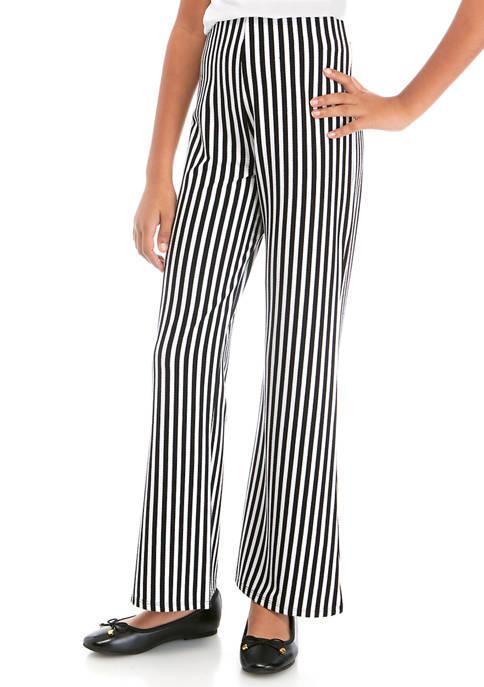 Girls 7-16 Knit Stripe Bell Pants