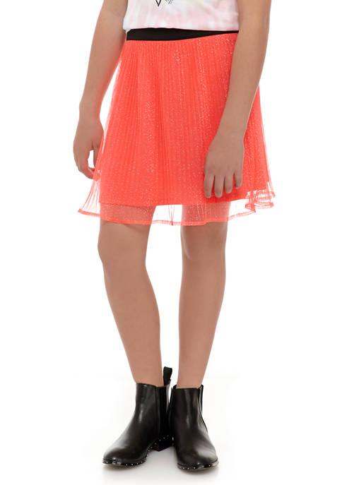 Girls 7-16 Mesh Skirt with Waistband