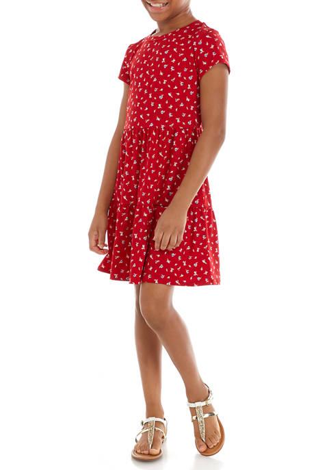 Kandy Kiss Girls 7-16 Short Sleeve Tiered Dress