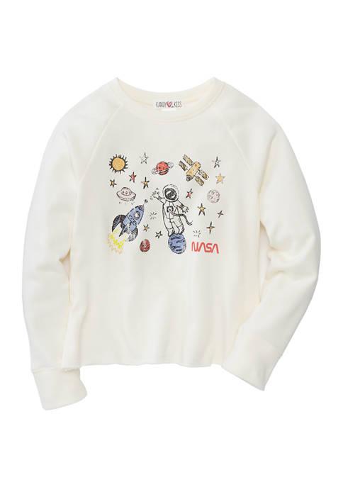 Kandy Kiss Girls 7-16 Long Sleeve Sweatshirt
