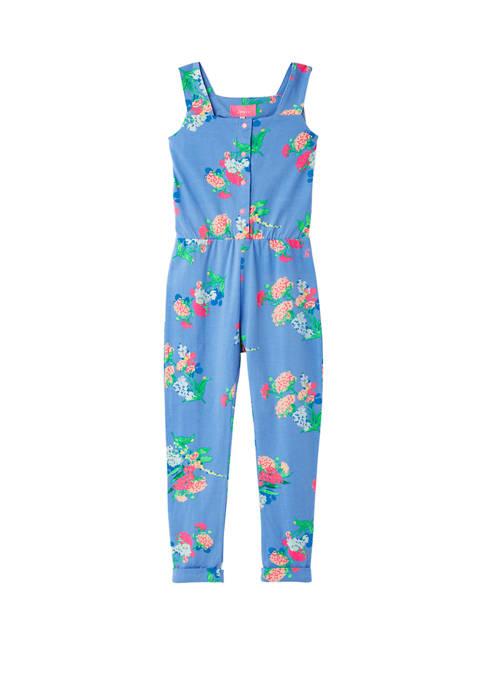 Joules USA Girls 1Y-6Y Kelsey Printed Jumpsuit