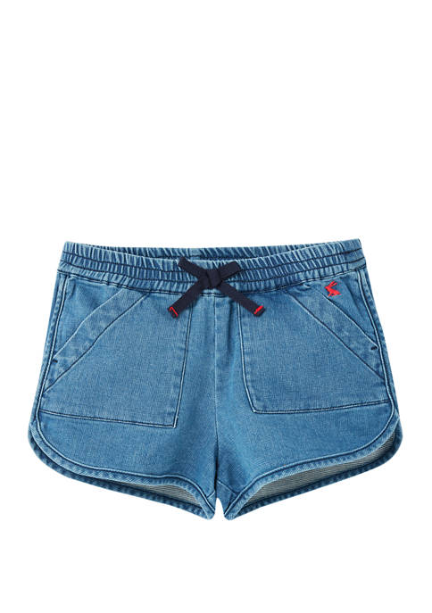 Joules USA Girls 3-12 Denim Shorts