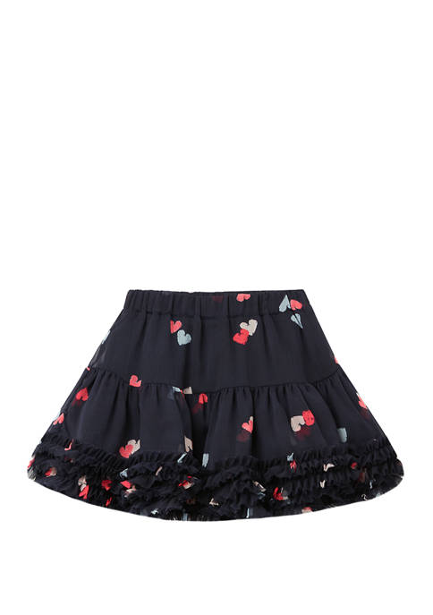 Joules USA Girls 1Y-6Y Lillian Print Skirt