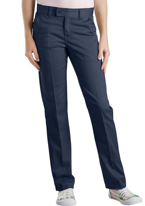 Dickies® Girls 7-16 Slim Fit Straight Leg Stretch