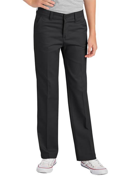 Dickies® Girls 4-6x FlexWaist® Slim Fit Straight Leg