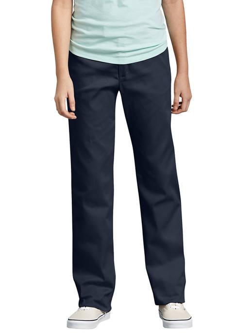 Dickies® Girls 7-20 Slim Fit Straight Leg Stretch