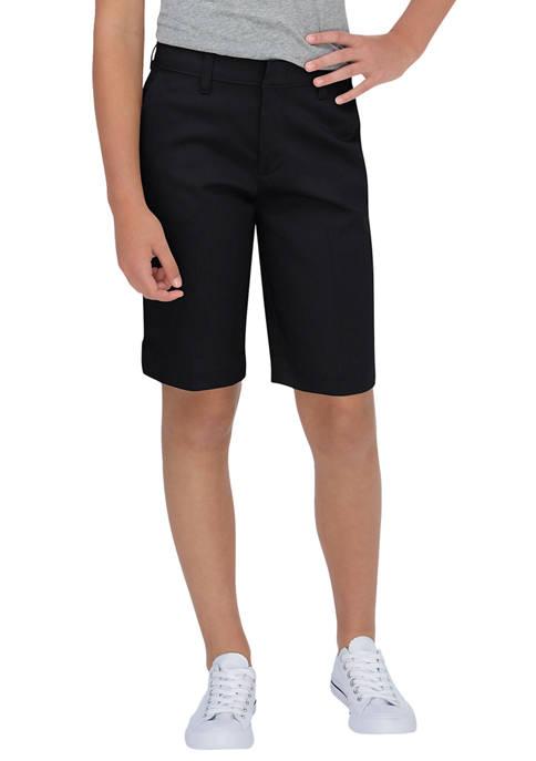Juniors Schoolwear Classic Fit Bermuda Stretch Twill Shorts