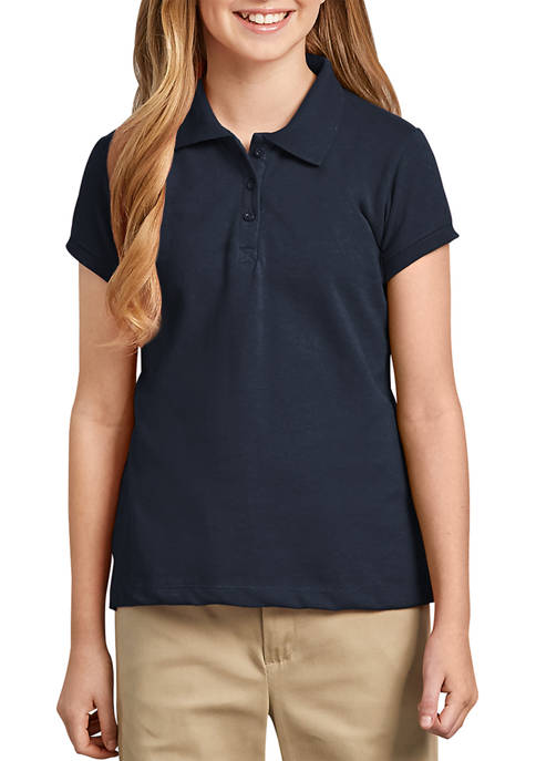 Dickies® Girls 7-20 Short Sleeve Pique Polo Shirt