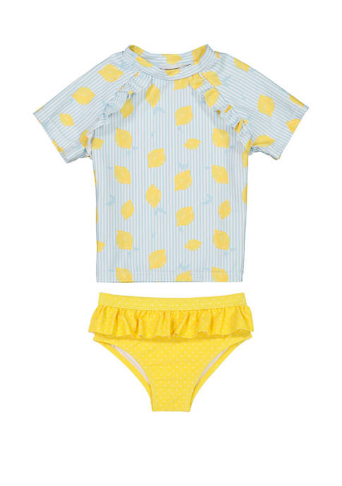 Andy & Evan Toddler Girls 2 Piece Swim