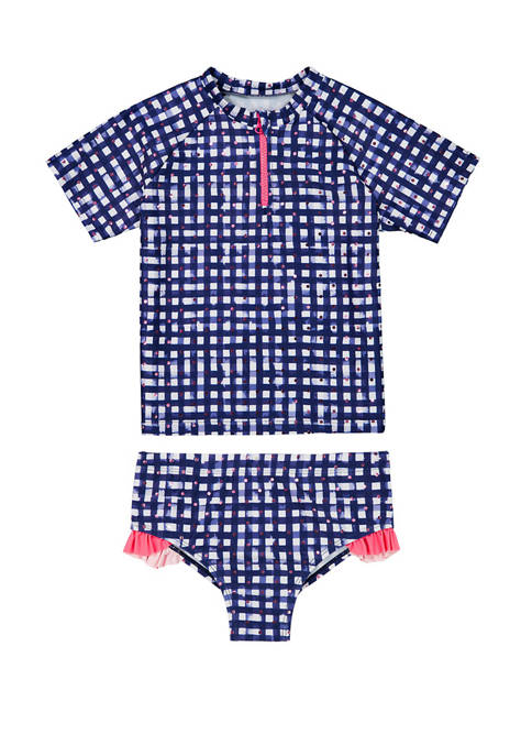 Andy & Evan Toddler Girls Rashguard Two-Piece Set