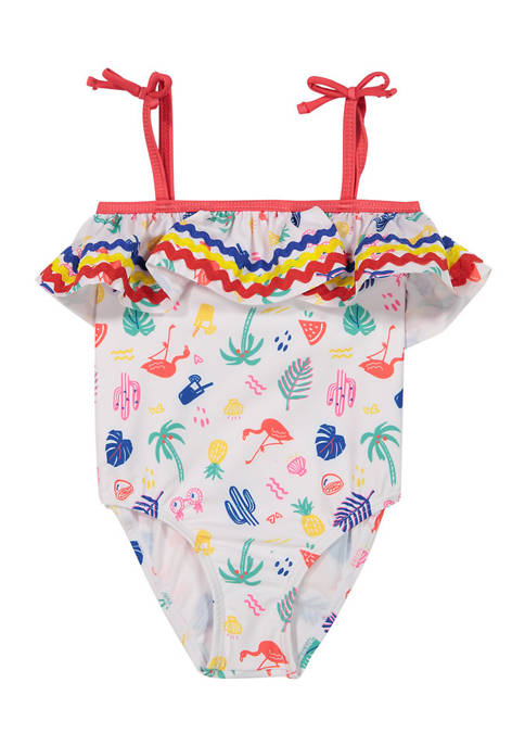 Andy & Evan Toddler Girls Ruffle Swimsuit