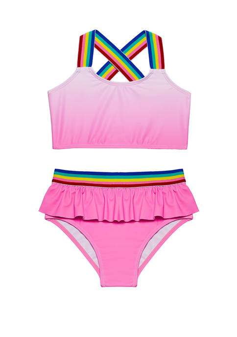 Andy & Evan Toddler Girls Swim Tankini Set