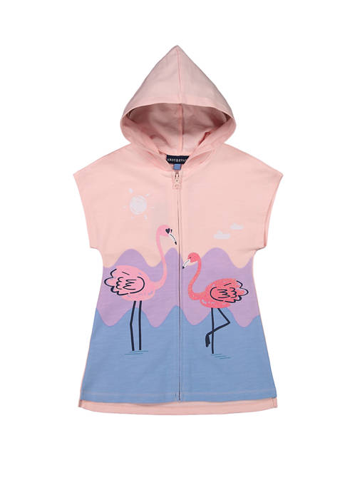 Girls Pink Flamingo Cover Up