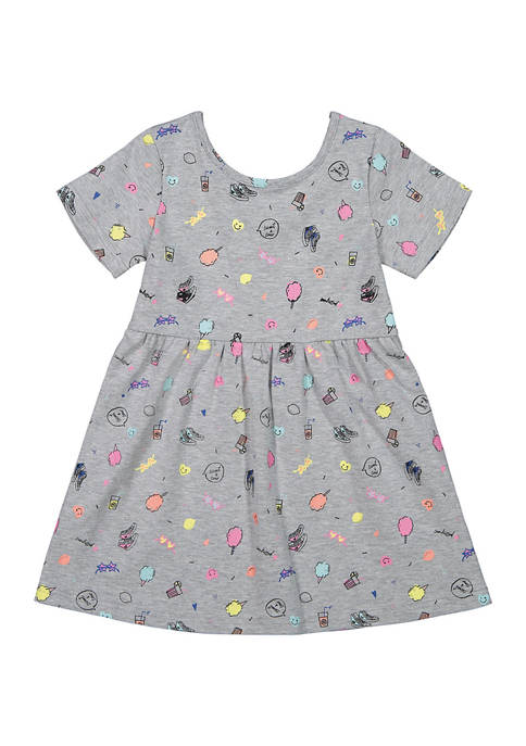 Andy & Evan Toddler Girls Yummy Boardwalk Print