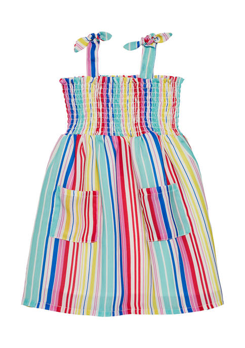 Andy & Evan Toddler Girls Stripe Dress