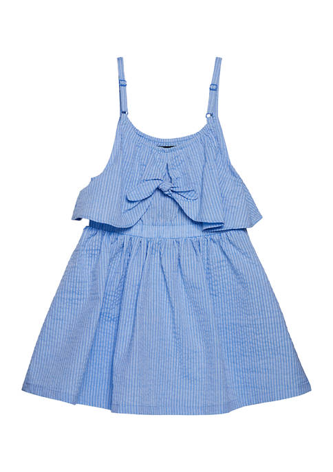 Toddler Girls Tie Front Dress