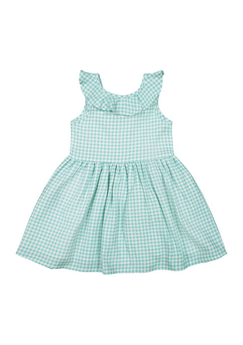 Andy & Evan Toddler Girls Gingham Dress