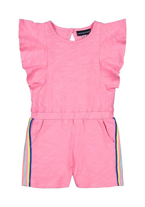 Andy & Evan Toddler Girls Pink Flutter Romper