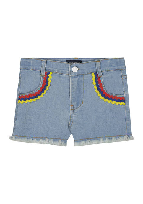Toddler Girls Blue Denim Short