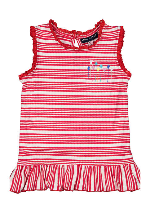 Andy & Evan Toddler Girls Ribbed Tank Top