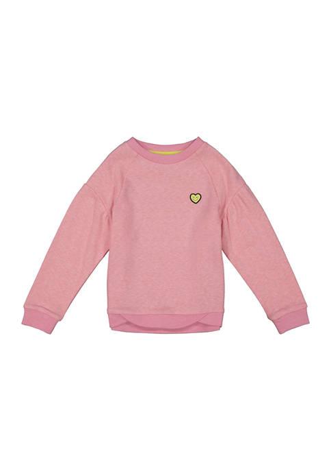 Toddler Girls Marled French Terry Sweatshirt