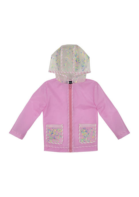 Andy & Evan Toddler Girls Sequin Infused Rain