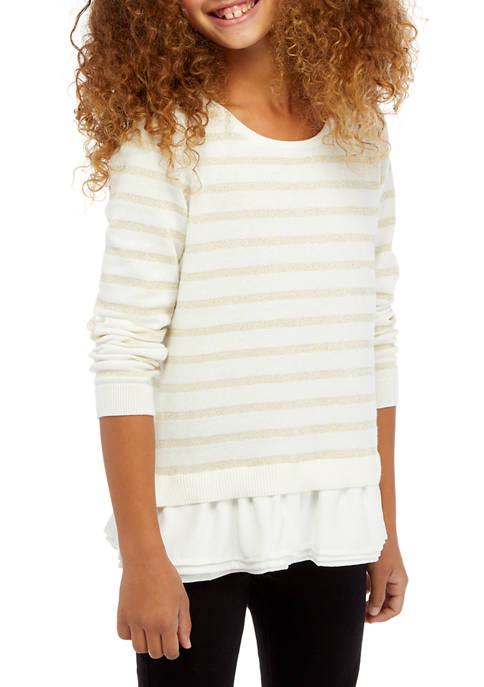 Girls 7-16 2Fer Sweater