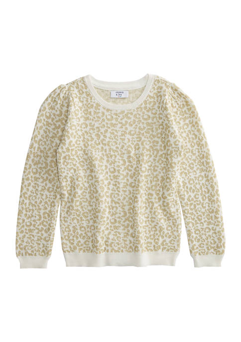 Crown & Ivy™ Girls 4-6x Puff Sleeve Pullover