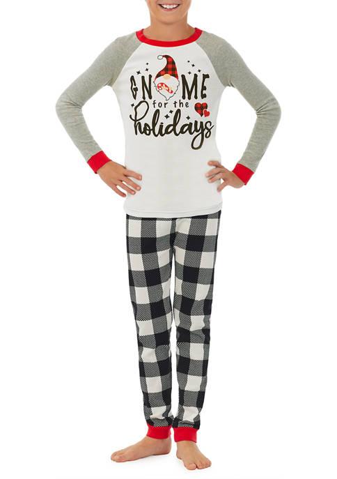 PAJAMARAMA Kids Gnome Family Pajama Set