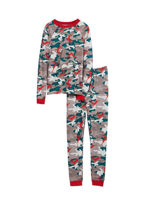 PAJAMARAMA Boys and Girls Camo Family Pajama Set