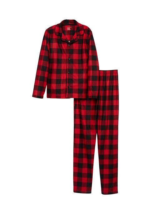 PAJAMARAMA Boys and Girls Buffalo Notch Family Pajama