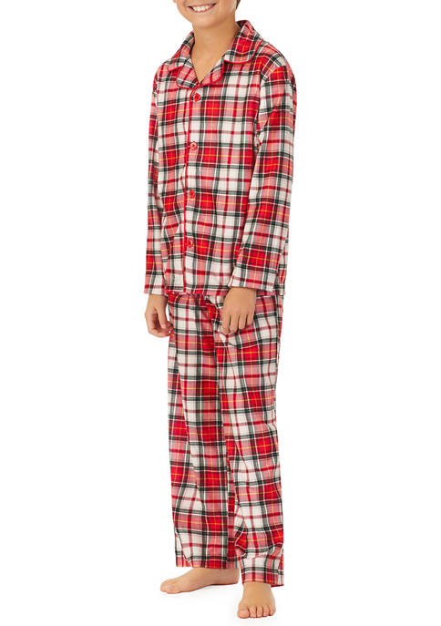 PAJAMARAMA Kids Plaid Family Pajama Set