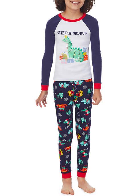 PAJAMARAMA Kids Dinosaur Family Pajama Set