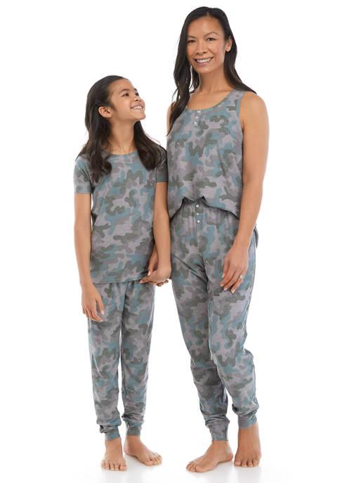 ROUDELAIN Mommy And Me Big Kids Pajama Set