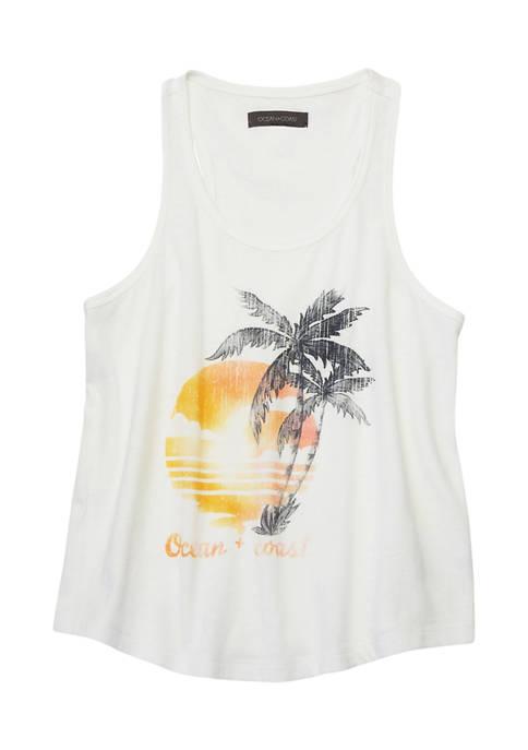 Ocean & Coast® Girls 7-16 Sleeveless Graphic Tank