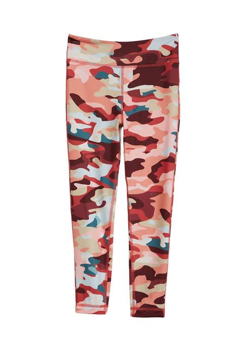 Girls 7-16 Camouflage Leggings