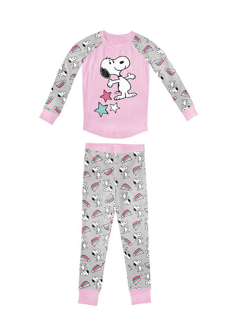 Girls 4-16 Tight Fit Raglan Pajama Set