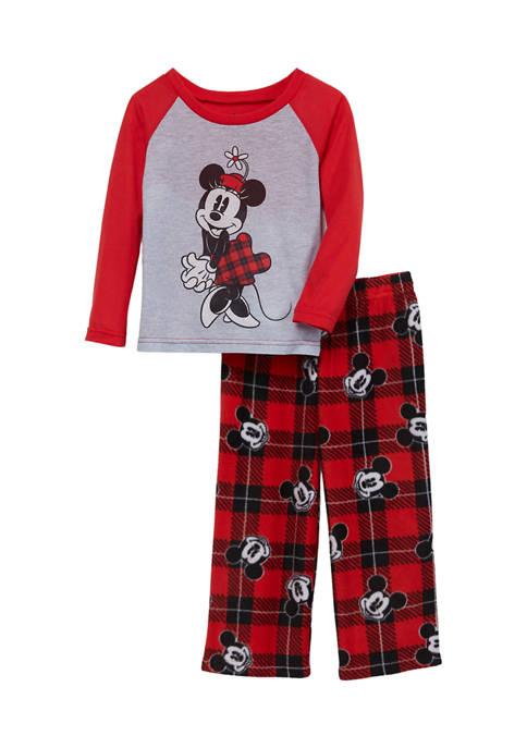 Disney® Mickey Girls Mickey Family Pajama Set