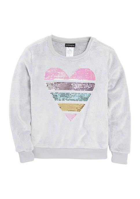 Girls 7-16 Pastel Minky Pullover