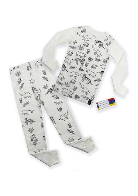 FAO Schwarz Girls 4-12 2-Piece Pajama Set