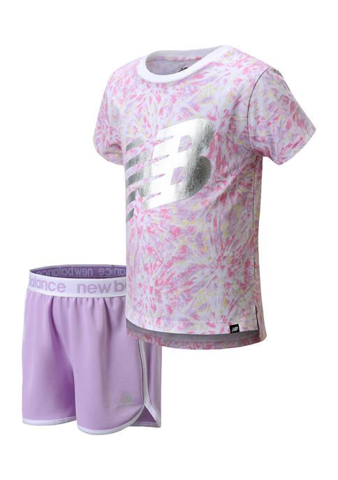 New Balance Girls 4-6x 2-Piece Shorts Set