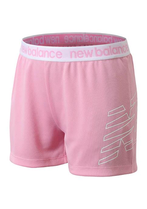 New Balance Girls 7-16 Mesh Shorts
