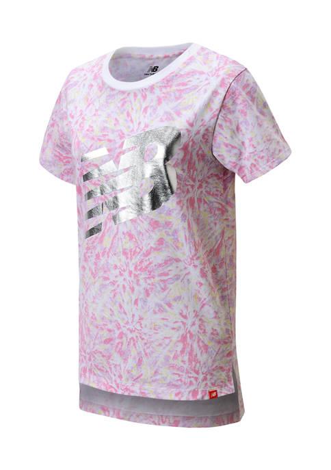 New Balance Girls 7-16 Short Sleeve Graphic T-Shirt