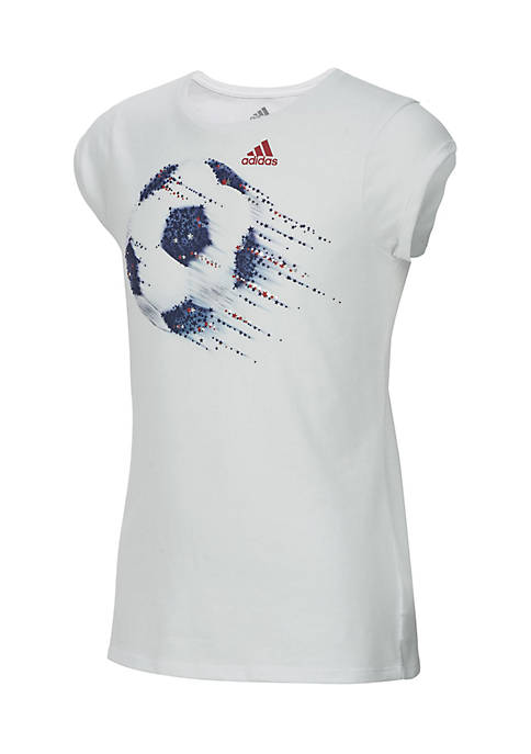 adidas Girls 2-6x On A Roll Tee