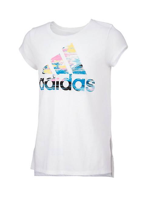 adidas Girls 7-16 Short Sleeve Vented Side Seam