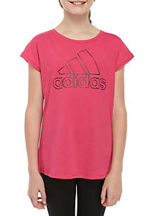adidas Girls 7-16 Drop Shoulder Tee