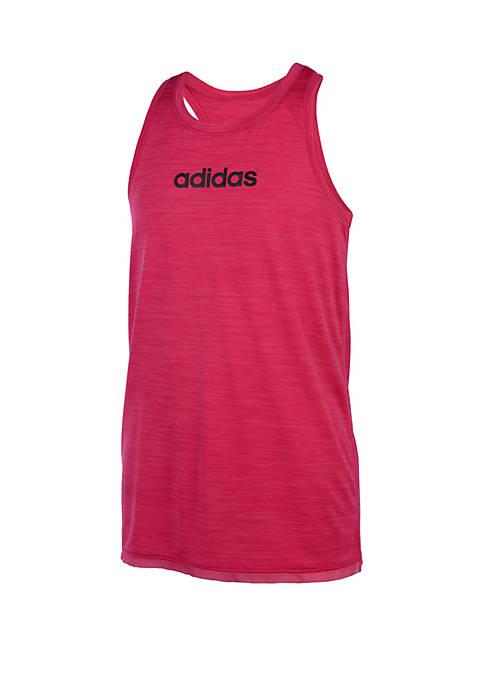 adidas Girls 7-16 Climalite® Racer Back Mesh Hem