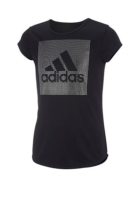 adidas Girls 7-16 Foil Graphic T-Shirt
