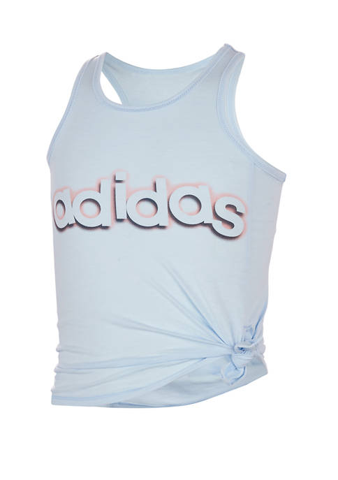 adidas Girls 7-16 Tie Side Graphic Tank