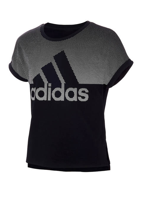 adidas Girls 7-16 Short Sleeve Badge of Sport